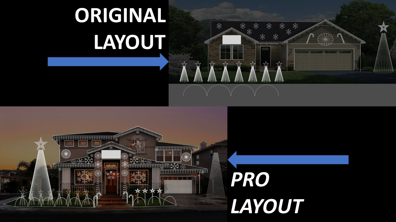 Differences Between Original and Pro Layout